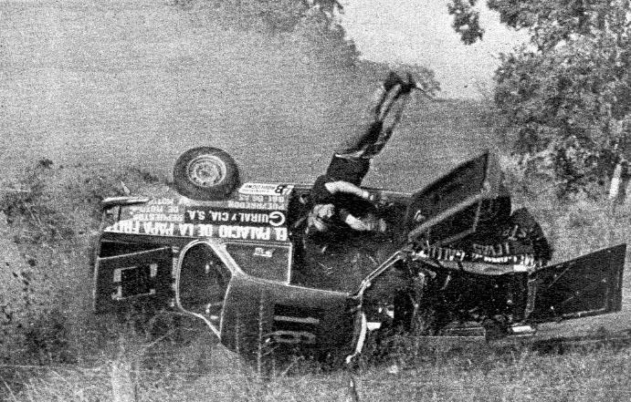 7 de junio, 1970 / ROBERTO GALLUZZI SOBREVIVE A UN TERRIBLE VUELCO EN SANTA FE