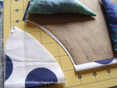 making your own cotton scoop neck top, cut each neckline separately