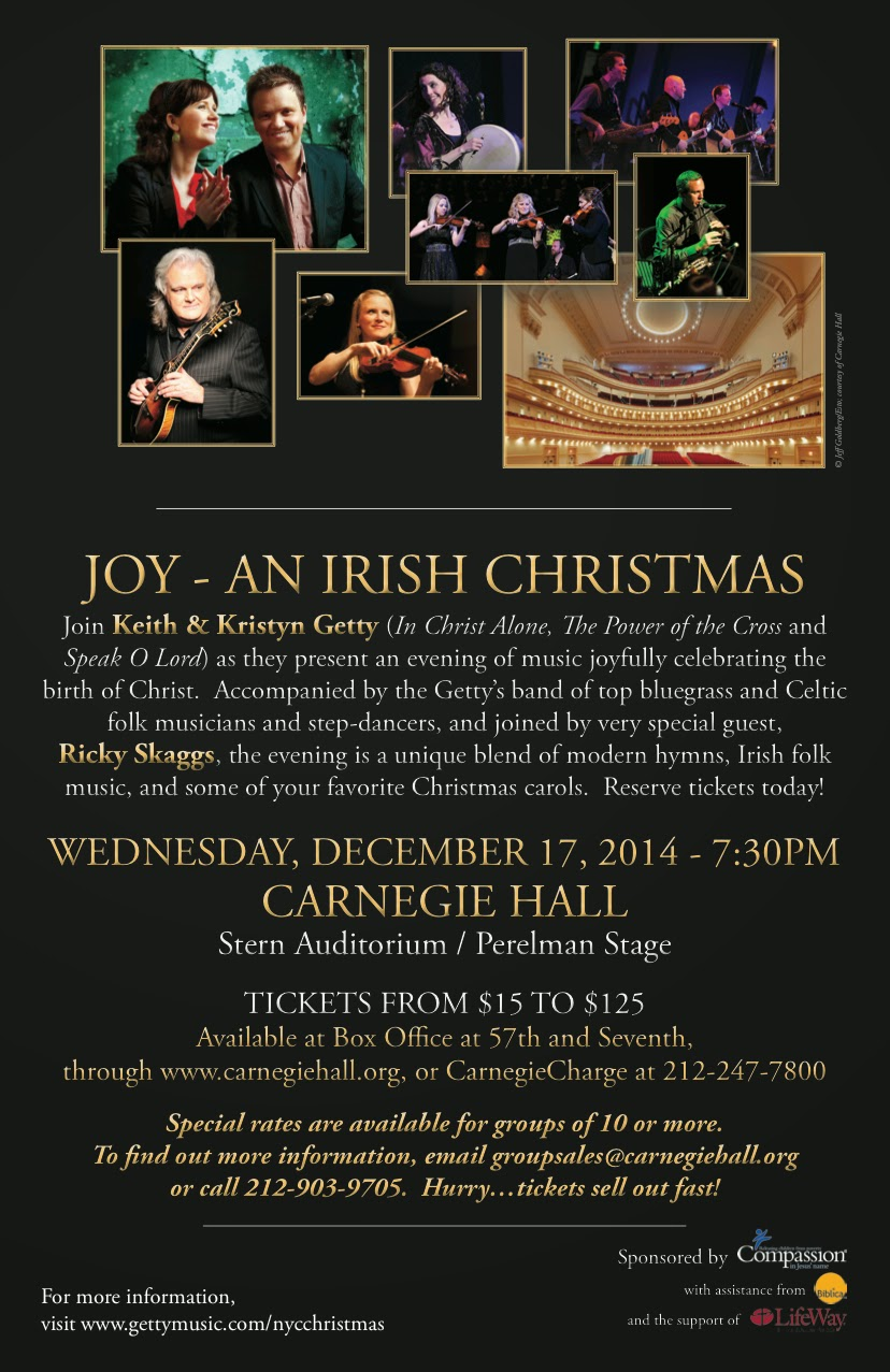 Keith & Kristyn Getty At Carnegie Hall AND A Discount Code for YOU ...
