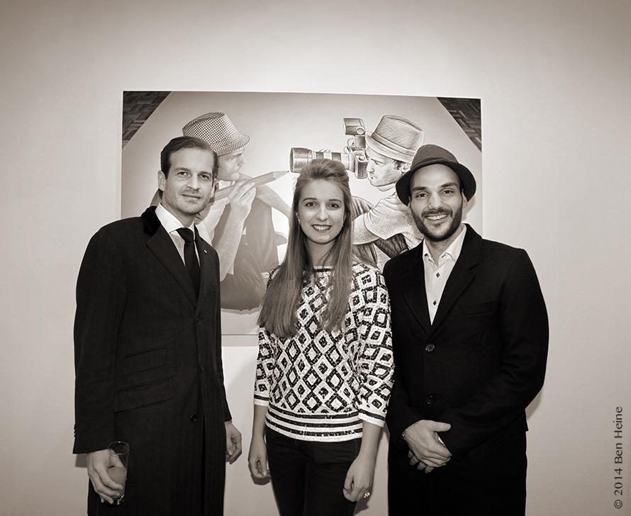 Echevin Geoffroy Coomans de Brachène, galériste Virginie Guillaume & Artist Ben Heine