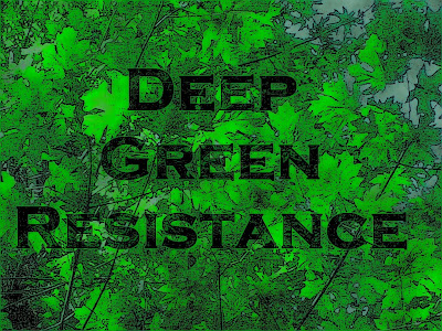 Deep Green Resistance maple leaf art