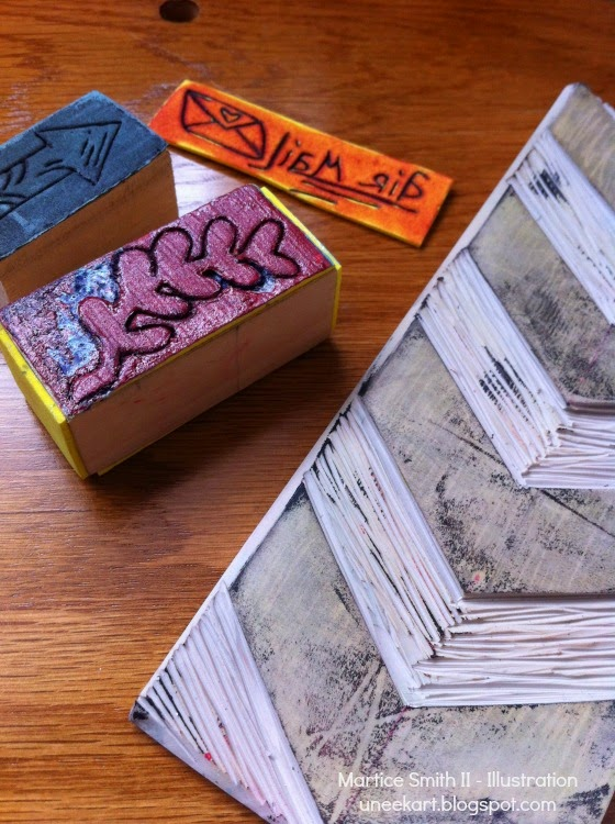 Hand-carved stamps by Martice Smith II