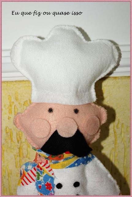 Boneco Cozinheiro de Feltro