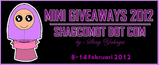 Mini Giveaway 2012 by shagcomot.com