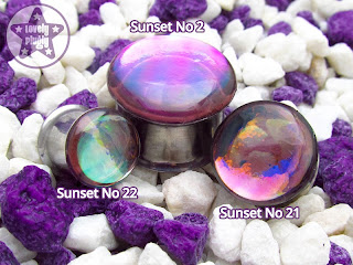 Sunsets Faux Dichro Colour-Flash Multichromatic Plugs