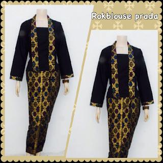 baju batik model gamis muslim