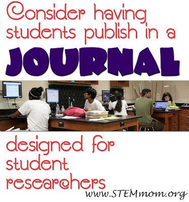 STEM mom describes JEI and JESS, both journals publish young researchers through a rigourous scientifically peer-reviewed process.