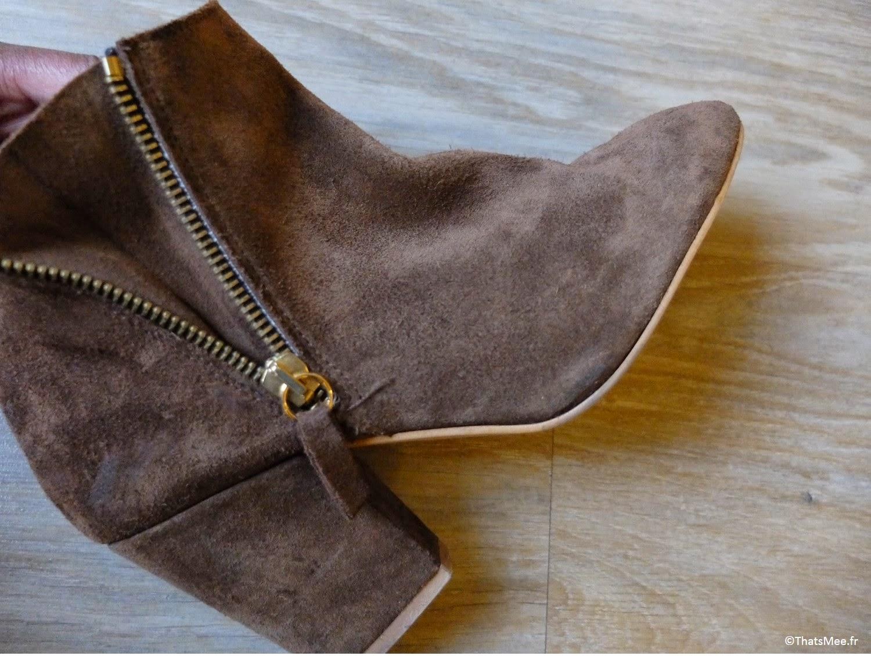 Low boots daim camel à vendre Zara zip côté pointure 38 tictail vide-dressing