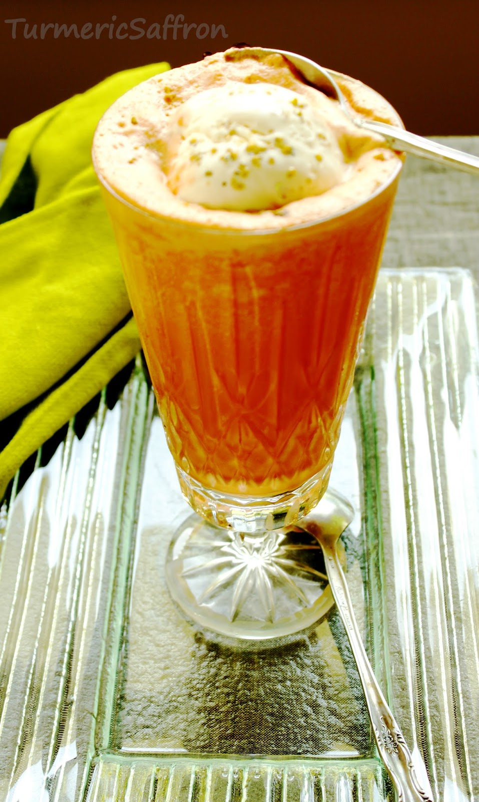 ... Ab-Haveej Bastani - Persian Carrot Juice and Saffron Ice Cream Float
