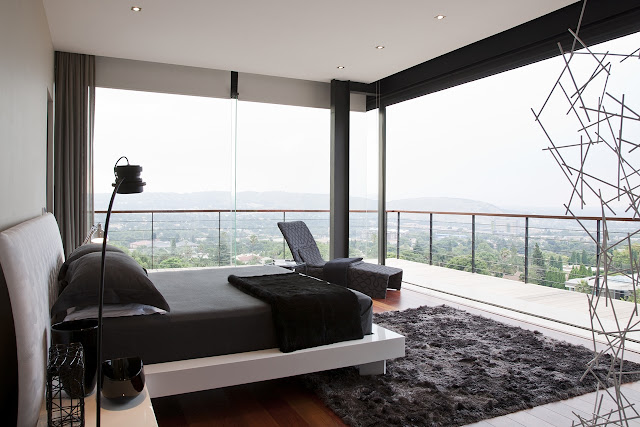 Picture of modern bedroom with the view
