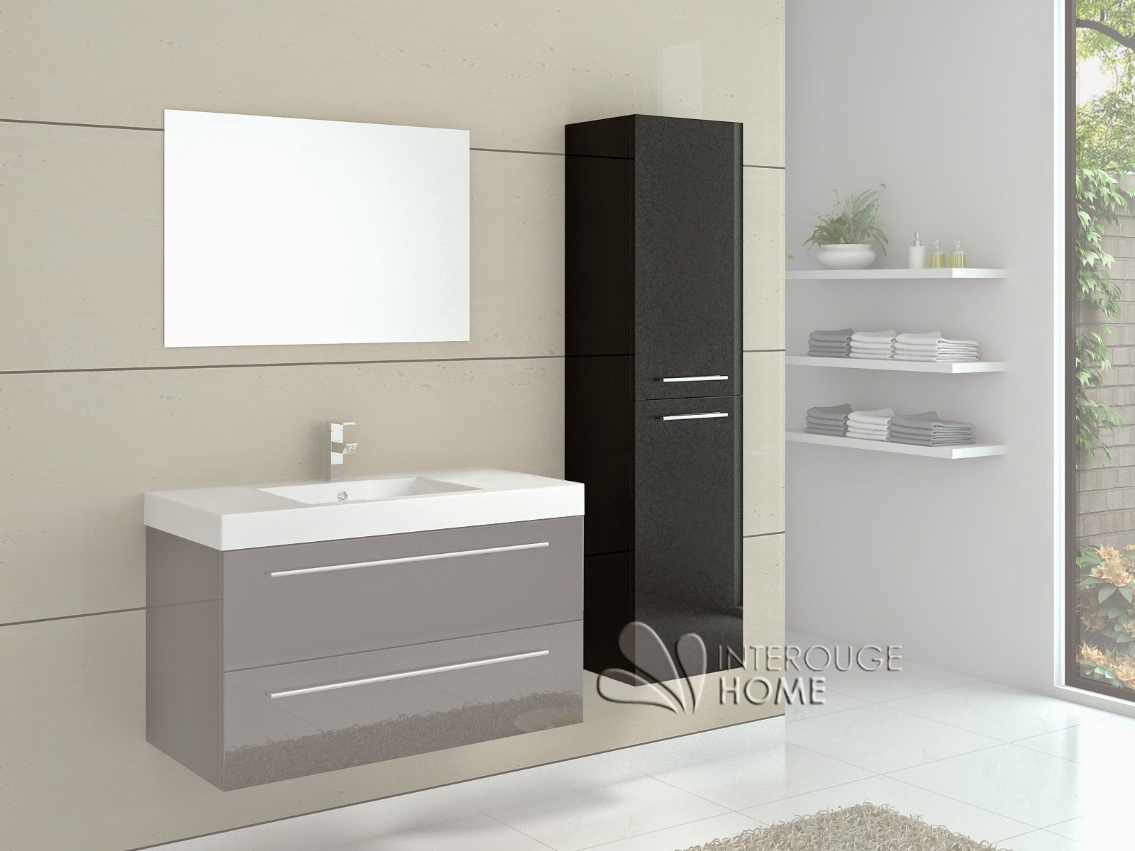 meuble rangement salle de bain noir meuble d coration maison. Black Bedroom Furniture Sets. Home Design Ideas