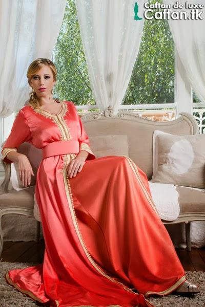 Caftan haute couture corail 2014