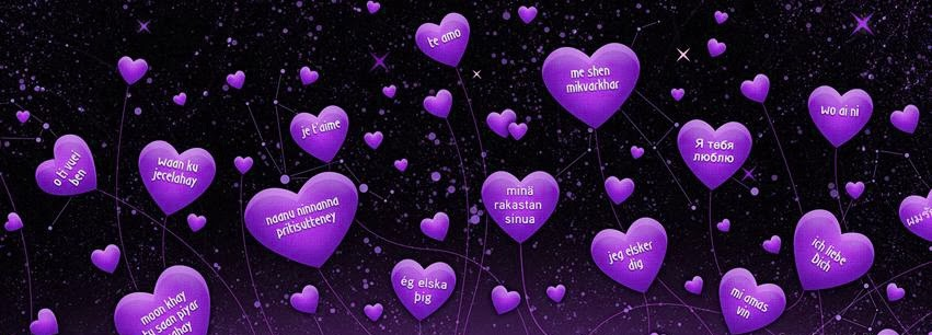 nice love facebook cover purple color