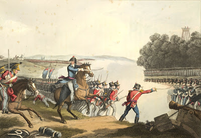 The Battle of Waterloo  from Historic, military and naval anecdotes of particular incidents by E Orme & illustrated by JA Atkinson (1819)