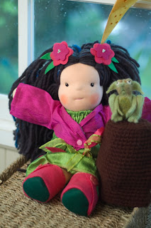needle felted troll, Korean doll, asain doll, princess, waldorf, bamboletta