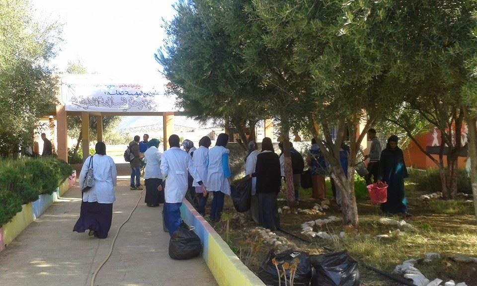 ورشات بيئية لنادي اركان بثانوية محمد الجزولي التأهيلية نيابة تيزنيت