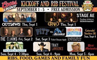 Rib Festival, Pittsburgh, Heinz Field, Steelers, The Clarks, Bret Michaels