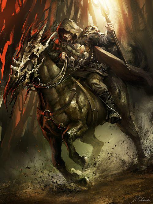 Darek Zabrocki daroz deviantart illustrations concept art fantasy games Druid rider