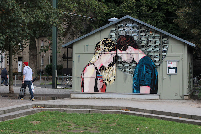 Street Art By Jana & Js In Dusseldorf, Germany For 40° Urban Art festival.