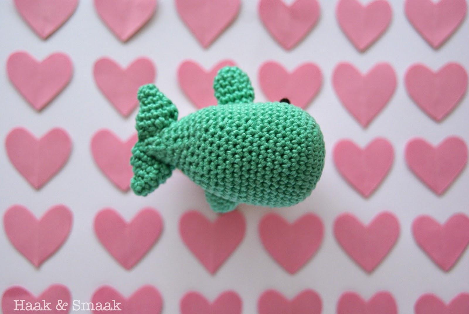 crochet whale rattle