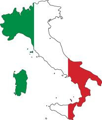 Italy-Flag map