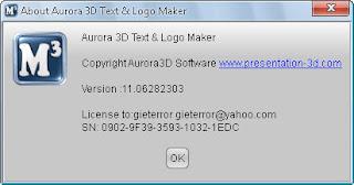 Aurora 3D Text & Logo Maker 11 Full Version + Keygen