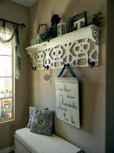 diy  shelf made from old ceiling tiles