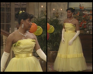 The Cosby Show Huxtable fashion blog Clair Phylicia Rashad prom dress