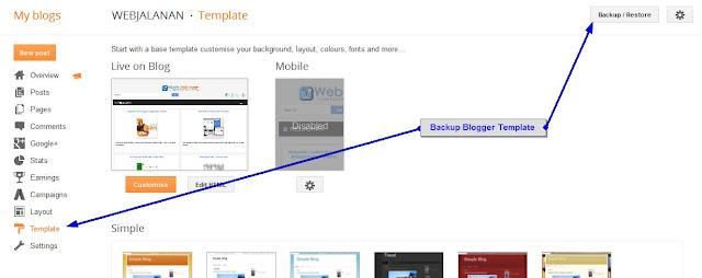 Backup Template Blogger