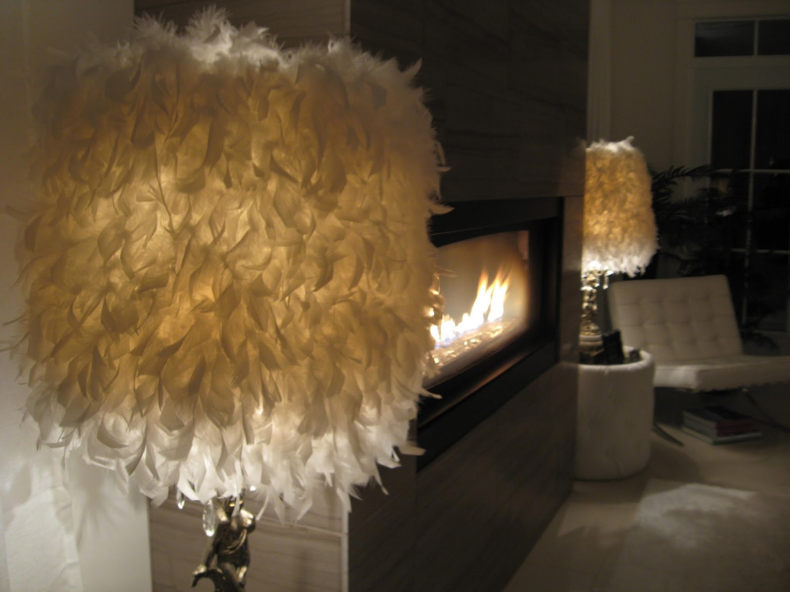 Mademoiselle Rose DIY Feather Lamp Shade