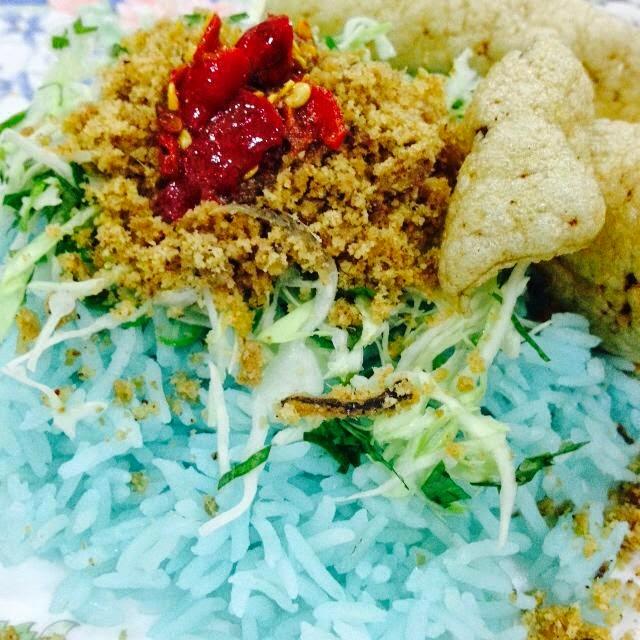 Nasi Kerabu Biru