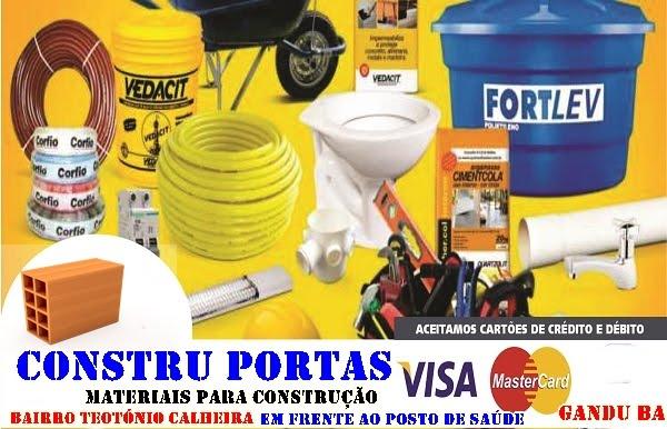 CONSTRU PORTAS  MATERIAIS DE CONSTRUÇÃO