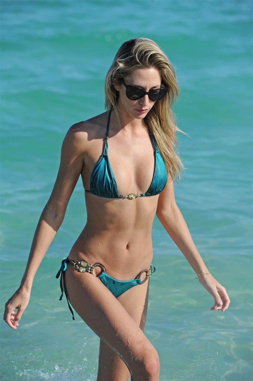 Lauren Stoner in Olive Bikini at the beach in Miami