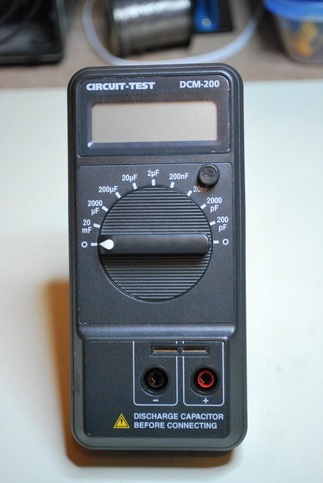 Radio Shack Capacitance Meter : Ve wdm s elecraft k build kit tools