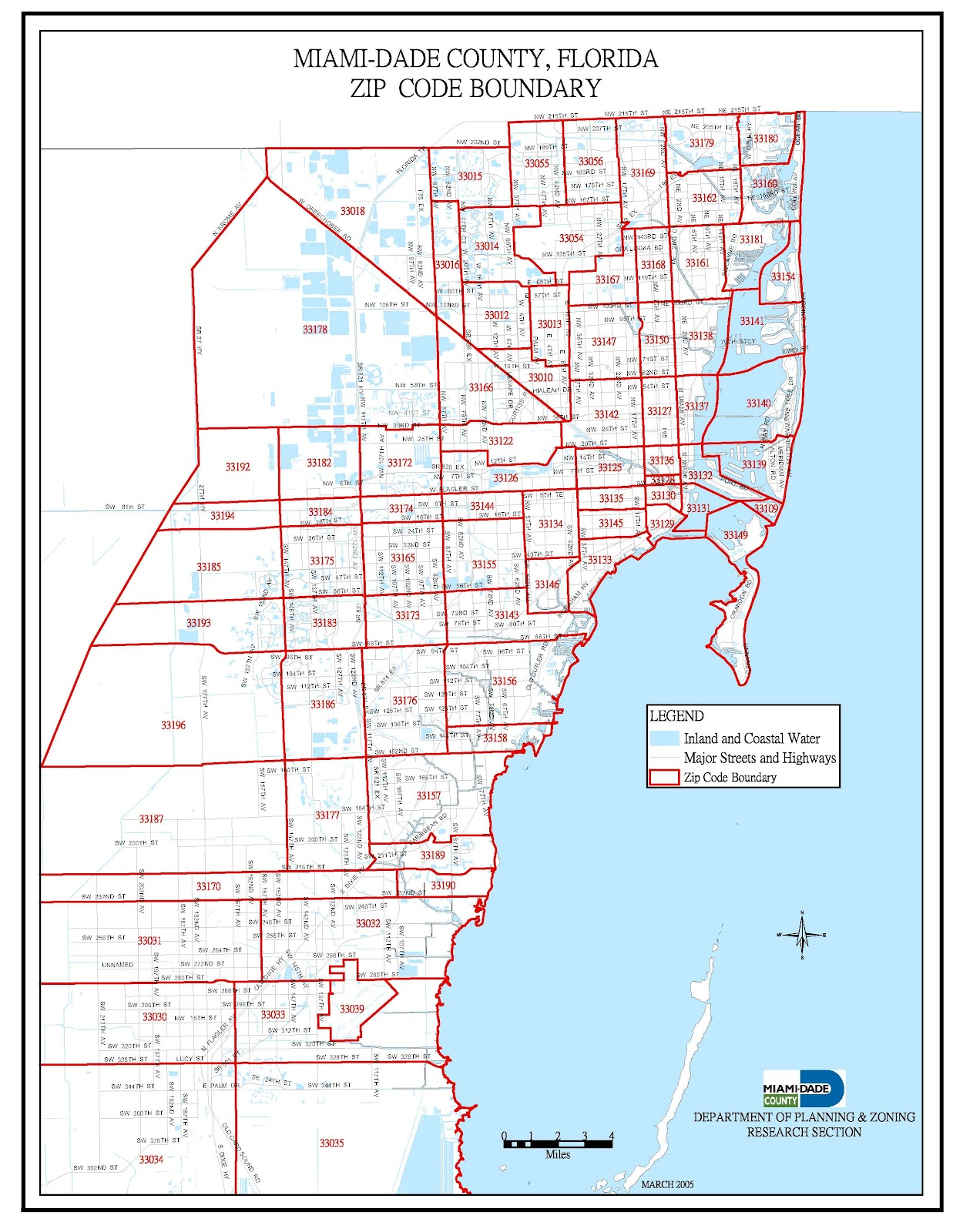 Awesome Miami Florida Zip Code Map Pics - Printable Map - New ...