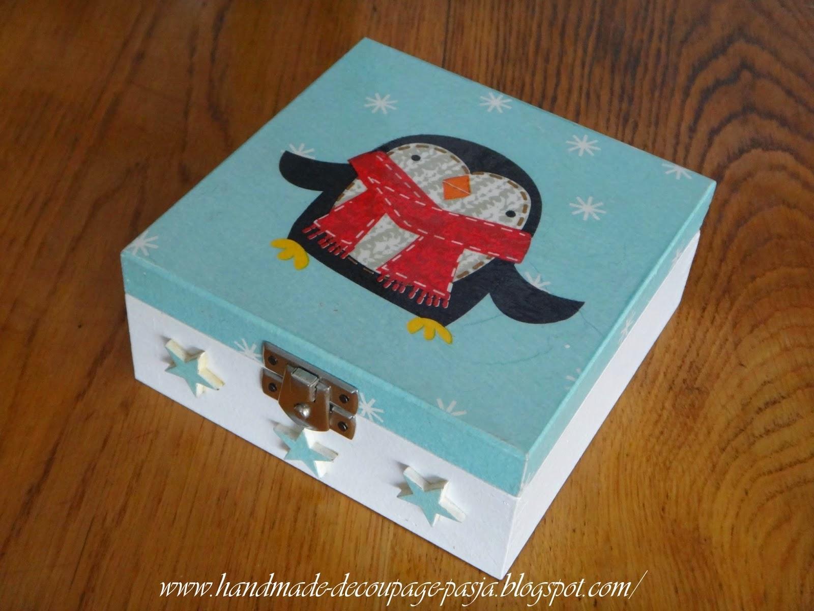 pudełeczko z pingwinem, pingwin, pudełko
