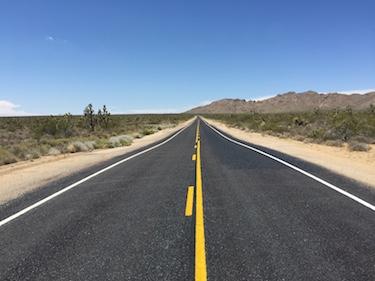 Chuck and Lori's Travel Blog - Highway Through Mojave National Preserve