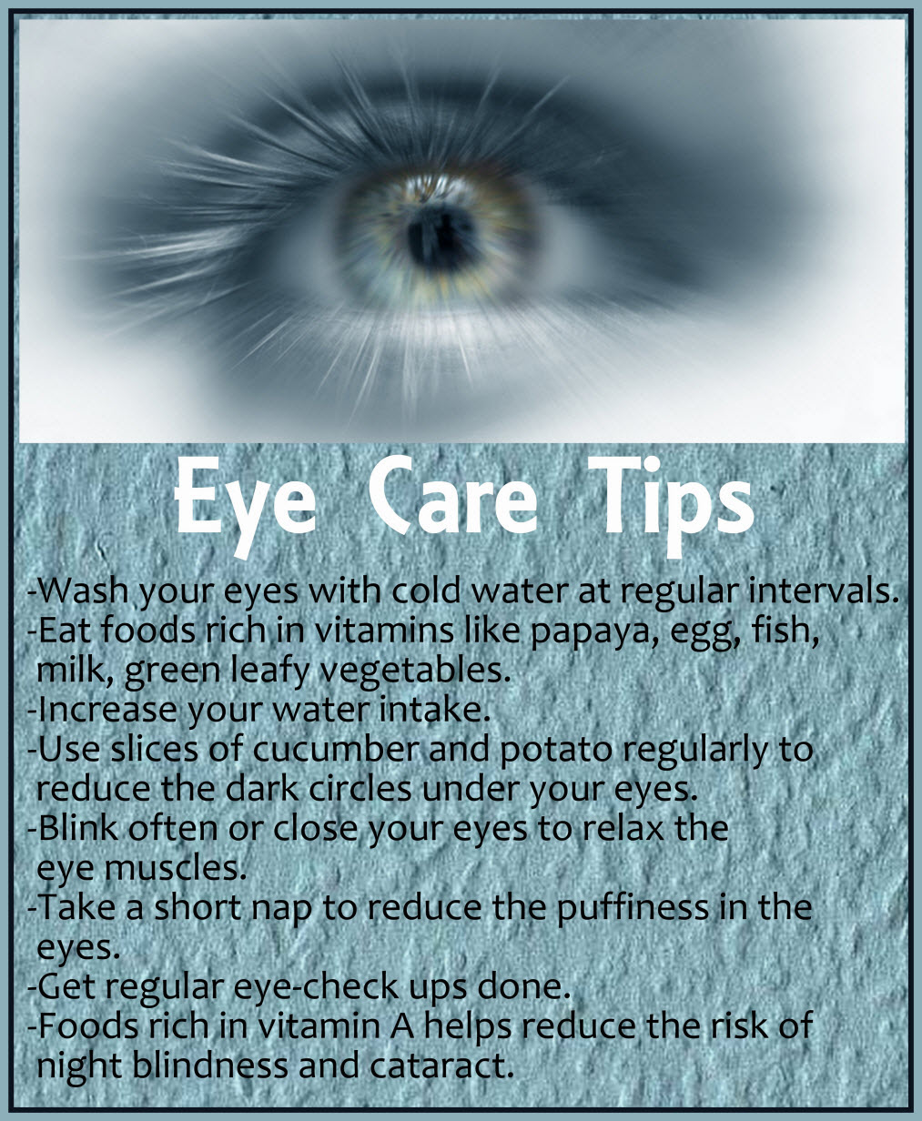 Eye Care Tips  Health Tips In Pics