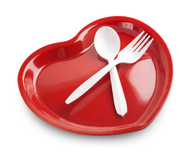 Heart shaped plate