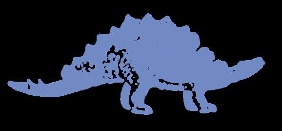 龍・辰年・ステゴサウルス(年賀状)