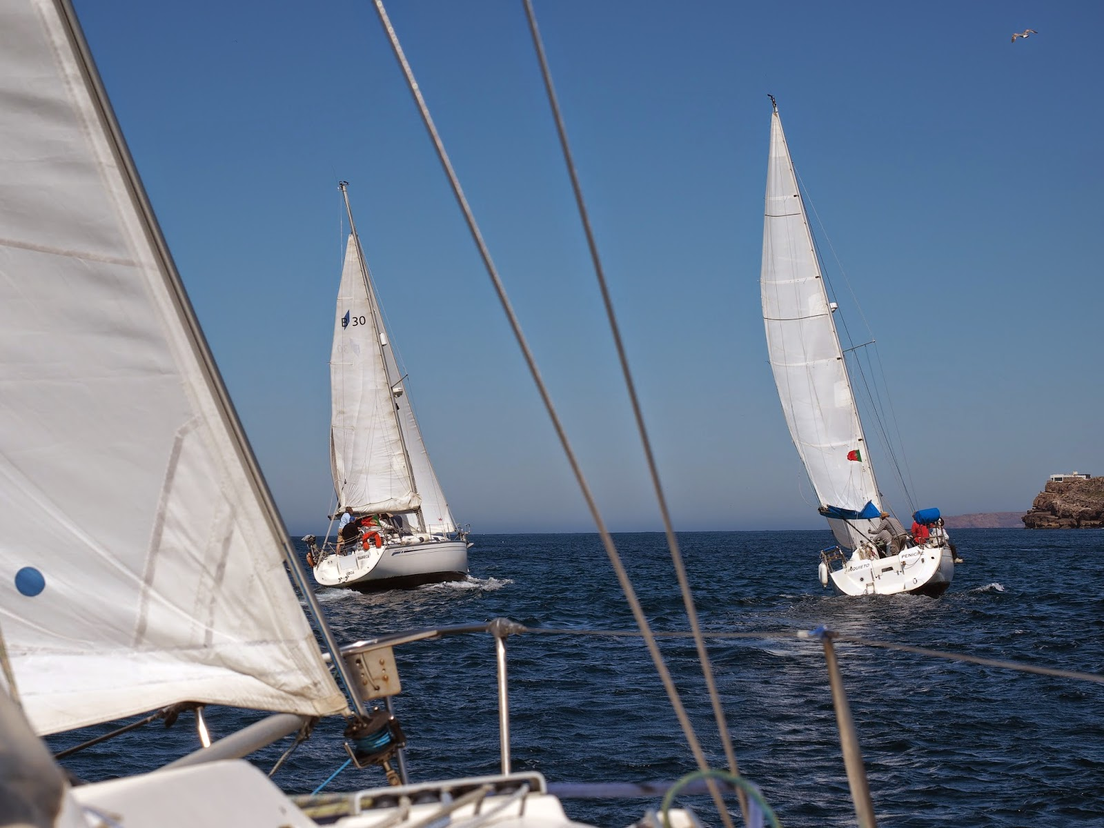 Sailing in Peniche
