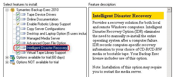 Backup Exec 2010 R3