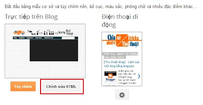 Cách thay giao diện Blogspot