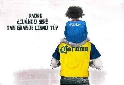 Meme del Cruz Azul vs. América del futbol mexicano. El América, padre del Cruz Azul | Ximinia