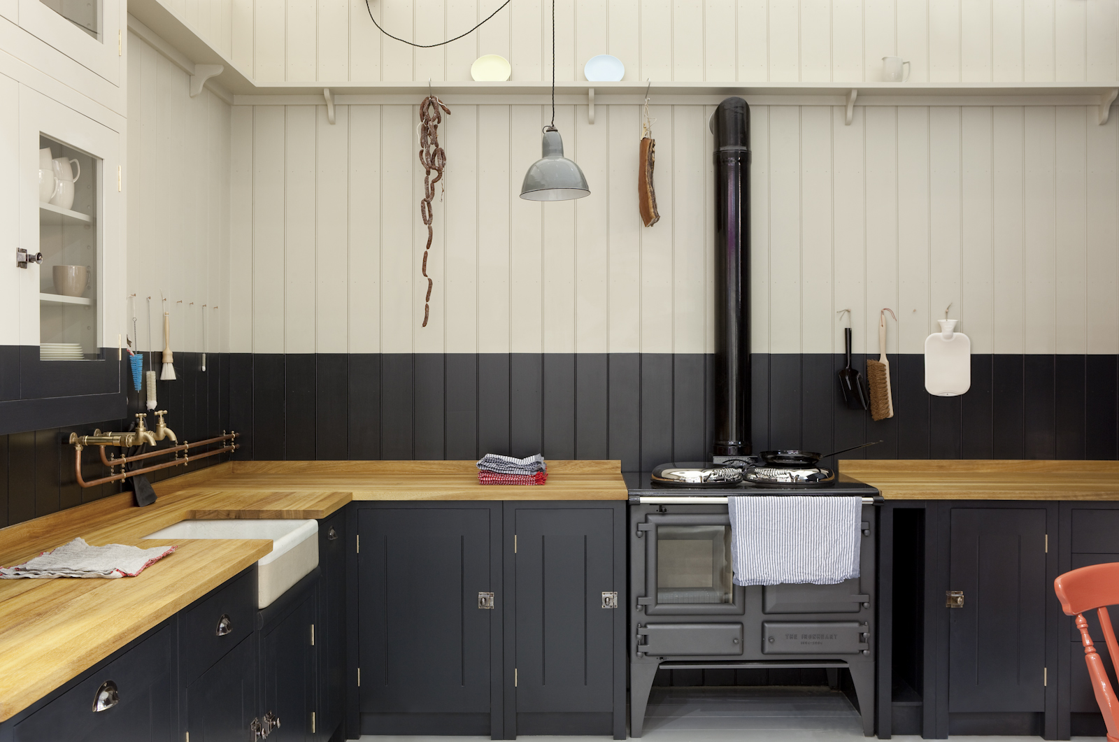 The new victorian ruralist plain english launches british for Kitchen wall paint design