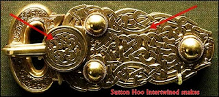 Buckle with intertwined snakes, Sutton Hoo