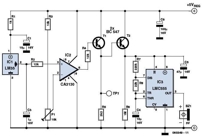 sensor ic lm35 based overheat detector alarm switch ~ dunia bebas~