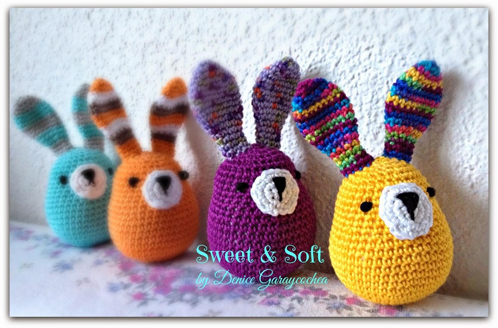 Conejo Kawaii Amigurumi Patron : La Magia del Crochet: CONEJITOS APACHURRABLES