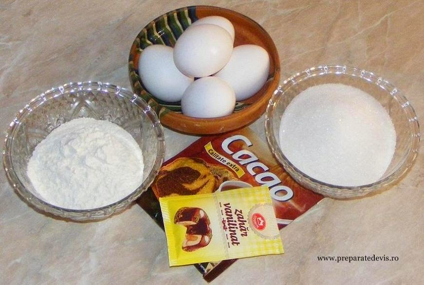 ingrediente blat de cacao din pandispan pentru prajituri, retete culinare, ingrediente pandispan,