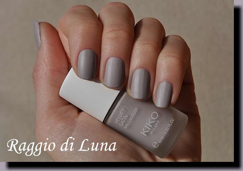 Raggio di Luna Nails: Kiko Velvet Satin Nail Lacquer n° 695 Ivory Taupe